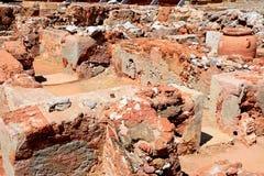 Malia ruins buildings, Crete. Stock Photo