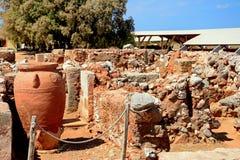 Malia ruins, Crete. Stock Photo