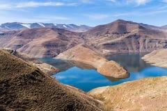 Malibamat ` резервуар реки так, Лесото стоковые изображения rf