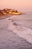 malibu över solnedgång fotografering för bildbyråer