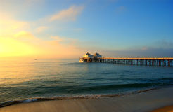 Malibu. The malibu pier and blue sky Stock Photo