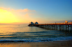 Malibu. The malibu pier and blue sky Royalty Free Stock Photos