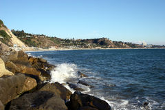 Malibu beach. Beautiful beach at malibu california Royalty Free Stock Photos