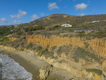 Malibu beach. California aerial shoot Stock Photography
