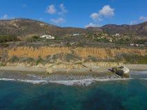 Malibu Beach California. Aerial view of a Malibu beach California US Royalty Free Stock Images