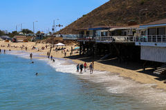 Malibu Beach Coast. This image was taken from the Malibu Pier in California in June 2015 Stock Photo