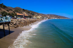 Malibu Beach Coast. This image was taken on the Malibu Pier in California in June 2015 Stock Photography