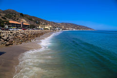 Malibu Beach Coast. This image was taken on the Malibu Pier in California in June 2015 Royalty Free Stock Photography