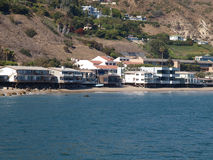 Malibu Beach Homes. Row of ocean front homes on California's Malibu Coast Stock Image