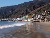 Malibu Beach Homes Royalty Free Stock Photos