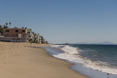 Malibu beach. House along the shore of malibu beach Stock Image