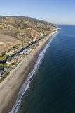 Malibu Beach Mansions Aerial Stock Images