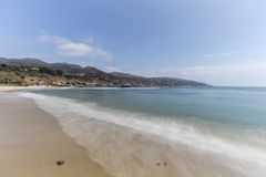 Malibu Beach with Motion Blur Surf Royalty Free Stock Photos
