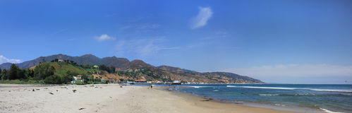 Malibu Beach Panorama Stock Photography