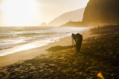 Malibu beach. Photographer Stock Photo