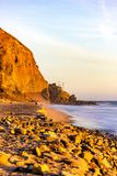 Malibu beach at sunset - simply beautiful. Los Angeles has som many impressive places Stock Photos