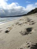 Malibu Beach. Walking down the beach in Malibu CA Royalty Free Stock Photography