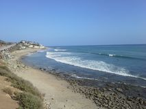 Malibu beach. Where the cruise ended. I love California Royalty Free Stock Images