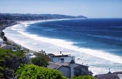 Malibu Beach Homes California Coast. Malibu brach homes lining the pacific coast highway in sunny california Royalty Free Stock Images