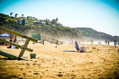 Malibu, CA. A summer day at the beach in Malibu, California Stock Photography