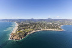 Malibu California Aerial Point Dume. Aerial view of Point Dume and Westward Beach in scenic Malibu California Stock Images
