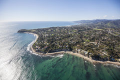 Malibu California Aerial. Aerial view towards Point Dume in Malibu California Royalty Free Stock Images