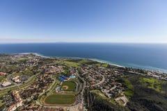 Malibu California Pacific Ocean View Aerial. Aerial of the pacific ocean and Malibu on the southern California coast Stock Images