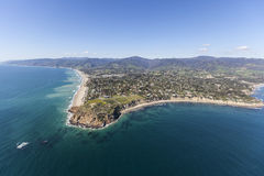 Malibu California Point Dume Shoreline Aerial Stock Photography
