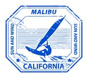 Malibu, California stamp Royalty Free Stock Photo
