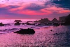 Malibu, California, Sunset, Dusk Royalty Free Stock Images
