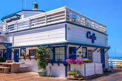 Malibu, California, USA - June 18, 2014: Famous cafe on the Malibu Pier. Famous cafe on the Malibu Pier Royalty Free Stock Photography