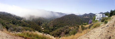 Malibu Canyon, Malibu, California. Early morning mist hangs over Malibu Canyon, Malibu, California (CA), USA Royalty Free Stock Photo