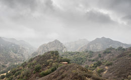 Malibu canyon. Winter storm in malibu canyon Royalty Free Stock Images