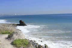 Malibu Coast. On the pacific ocean on a sunny day and calm sea Stock Photos