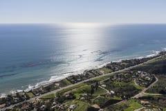 Malibu Coast Aerial in Southern California. Aerial view of the Malibu coast near Los Angeles California Stock Photos