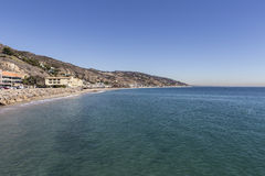 Malibu Coast. Pacific ocean shoreline seascape in Malibu, California Royalty Free Stock Images