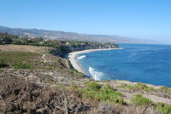 Malibu coastline. Cliffs overlooking the beaches of Malibu California Stock Photos