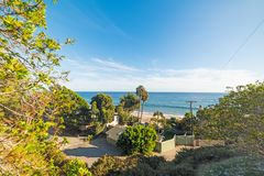 Malibu coastline on a sunny day. Los Angeles, California Stock Photography