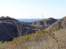 Malibu Coastline. View of the Malibu Coastline from the Santa Monica Mountains Royalty Free Stock Photo