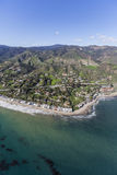 Malibu Cove Colony California Aerial. Aerial view of Malibu Cove north of Los Angeles California Royalty Free Stock Photography