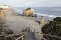 Malibu Cove. Public access stairs leading down to hidden cove on Malibu's affluent northern shore Royalty Free Stock Image