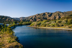 Malibu Creek, seen from Pacific Coast Highway, in Malibu, Califo Royalty Free Stock Images