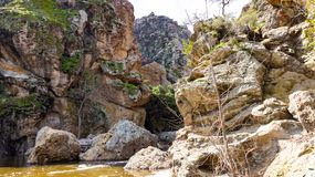Malibu Creek. In Southern California at the  State Park royalty free stock photo