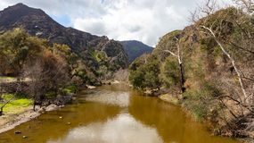Malibu Canyon. Malibu Creek in Southern California at the Malibu Creek State Park royalty free stock photos