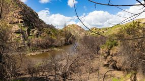 Malibu Creek. In Southern California after wildfires stock images