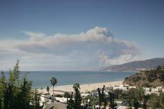Malibu Fire. Woolsey Fire. Malibu, CA. royalty free stock images
