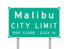 Malibu granicy miasta drogowy znak Zdjęcia Stock