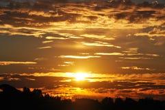 Malibu Hills Glorious Sunrise. Along the eastern ridgeline of the Santa Monica Mountains Stock Image