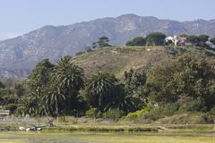 Malibu hills landscape in the summer Royalty Free Stock Photo
