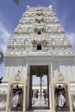 Malibu Hindu Temple. Entrance to the Malibu Hindu Temple located in the Santa Monica Mountains in Calabasas, CA Stock Photography
